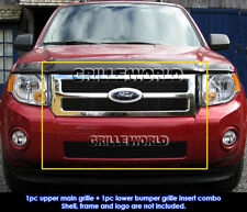 For 08-12 2011 2012 Ford Escape Black Billet Grille Grill Combo Insert
