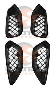 2009-2013 C6 Corvette ZR1 Genuine GM LH & RH Upper & Lower Fender Ornament Set