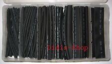Schrumpfschlauch Sortiment 100 teilig schwarz Black NEU