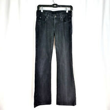 7 For All Mankind Women's Lightning Bolt Black Stretch Bootcut Jeans 28 X 30 1/2