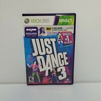 Just Dance 3 (Microsoft Xbox 360, 2011) Complete with Manual CIB