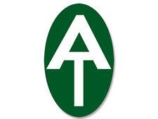 3x5 inch VERTICAL Green Oval AT Symbol Sticker -camp logo appalachian trail hike