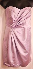 women's David's Bridal iris purple strapless bridesmaid dress size 24 MSRP $99