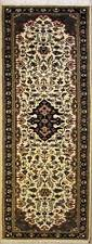 Rugstc 2.5x10 Senneh Pak Persian White Runner Rug, Hand-Knotted,Floral,Wool