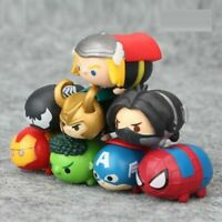 Avengers Marvel Tsum Tsum Mini Dolls Toy Figures 8 Pcs Party Gift / Cake Toppers