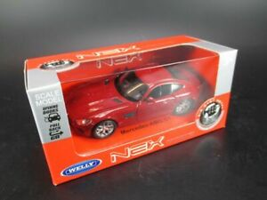 Mercedes Benz AMG Gt Model Car 1:3 4 Welly Diecast IN Box Red