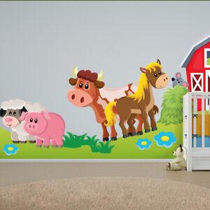 Wandtattoo Fürs Kinderzimmer, Baby. Sticker Aufkleber Der Farm SDB7