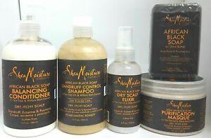 Shea Moisture African Black Soap Range Conditioner/Masque/rinse/soap/wash