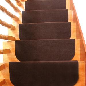 1/13 Set Carpet Stair Treads Non Slip Step Mat Rug Protection Cover Home Decor