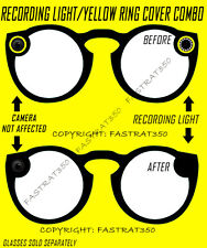 Snapchat Spectacles Yellow Ring Black Out Kit fits Version 1.0 and 2.0