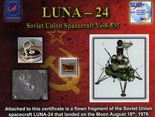 Flown to the Surface of the Moon and Back to Earth - with COA Documentation!