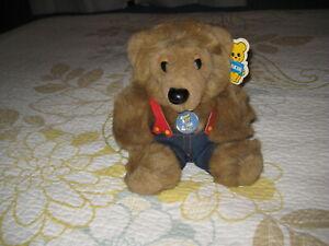 DAKIN 1985 HILLBILLY TEDDY BEAR NWT #31-1488 PLUSH