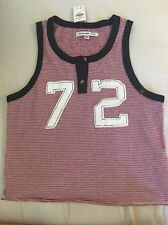 WOMENS ABERCROMBIE & FITCH GRAPHIC HENLEY TANK SIZE MEDIUM