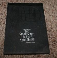 Disney Nightmare Before Christmas Illustrated Mini Black Note Pad 1993 OOP Japan
