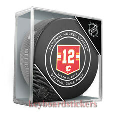 Calgary Flames Jarome Iginla JERSEY RETIREMENT Hockey Game Puck March 2/2019