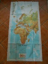 Rare Vintage Original US ARMY MAP SERVICE 1962 THE WORLD Sheet 1 Paper Map