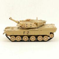 1:56 US Militär M1A2 Abrams Panzer Modell Metall Spielzeug mit Sound Licht Gelb
