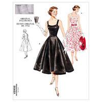 Retro dress SEWING PATTERN, 50s fifties style Vintage Vogue V2902 retro 1950