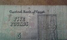 EGITTO banconota da 5 Libbre EGYPTION numero di serie nella foto (0023) fatto circolare