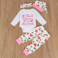 2019 Newborn Baby Girls Tops Romper Floral Pants Outfits Set Clothes 0-24M HOT