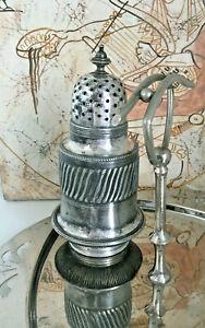 Löschsand Spender Queen Anne Zuckerstreuer Sheffield Late Victorian Schreibtisch