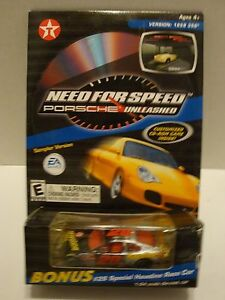 Action Havoline Need For Speed Porsche CD Game W/ #28 Ricky Rudd Car 1:64 44-76