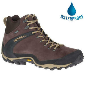 Merrell Cham 8 Mid GTX Mens Brown Waterproof Walking Hiking Boots Size UK 7-12