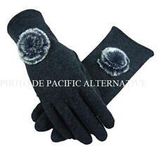 Gants GRIS pour FEMME tactile compatible ecran smartphone grey gloves woman NEUF