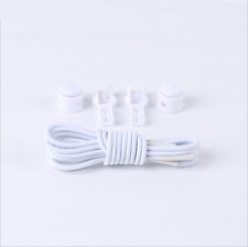 1Pair  Elastic No-Tie Locking Shoelaces Shoe Laces With Buckles For Sport Shoes