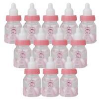 12pcs Fillable Bottles Bear for Pink Girl/Blue Boy Baby Shower Favor Party Decor