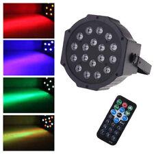 New 36W 18LEDs RGB Stage Lighting LED Par Light with Remote Control AC 110-220V