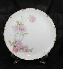 "Antique Haviland Limoges Baltimore Rose 12 3/8"" Round Chop Plate Scheiger 1151"