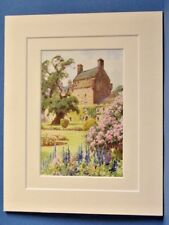 BEMERSYDE HOUSE SIR WALTER SCOTT SCOTTISH BORDERS VINTAGE DOUBLE MOUNTED PRINT