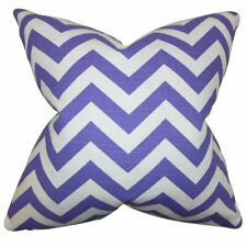 The Pillow Collection Falkner Chevron Pillow, Purple (J)