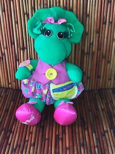 "Baby Bop Talks in Dress 18"" Plush Doll 90's Barney Dinosaur Playskool"