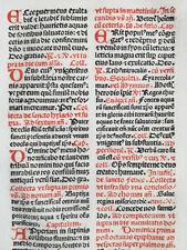 Rubricated Incunable Leaf Brevarium (156) - 1495