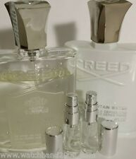 2 0f 5ml fresh French CREED ROYAL water and SILVER MOUNTAIN - unisex
