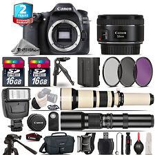 Canon EOS 80D DSLR Camera + 50mm + 650-1300mm +500mm + EXT BATT + 2yr Warranty