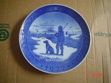 Royal Copenhagen Collectors Plate Christmas 1977 Shooting Hunting Plate