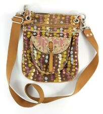 Fossil Canvas/leather Cross Body Shoulder Bag