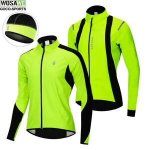Mens Long Sleeve Cycling Jacket Winter Thermal Fleece Windproof Wind stopper