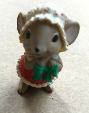Hallmark Mini Miniatures 1986 Mrs. Santa Mouse