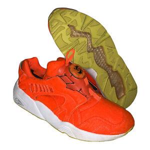 Puma Disc Blaze Bright Orange Running Training Athletic Shoes Size 7