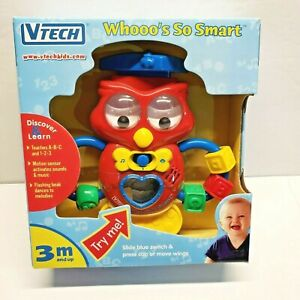 VTECH Whooo's Smart Owl Learning Toy 3 months and older NEW, RARE