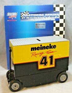 NASCAR Diecast #41 Joe Nemechek Meineke Pit Wagon Bank 1:16 Scale