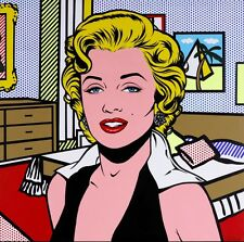 STAMPA SU TELA CANVAS ROY LICHTENSTEIN MARYLIN MONROE 70X70  POP ART QUADRO