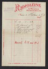 """NERONDES (18) EPICERIE CENTRALE """"A. PHALLET"""" Publicité PETROLE RADIOLEINE en1923"""