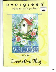 Evergreen Decorative Flag Welcome New In The Package