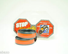 2 STOP FLATS ANTI-FLAT/PUNCTURE BICYCLE TIRE LINERS 700x23-25,PAIR