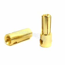 20 Pair 5.5mm Female Male Gold Banana Bullet Connector Plugs RC Battery